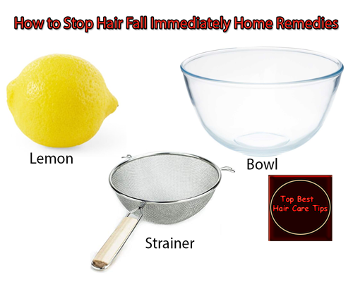 How to Stop Hair Fall Immediately Home Remedies