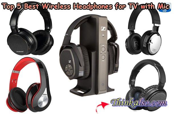 Top 5 Best Wireless Headphones for TV with Mic