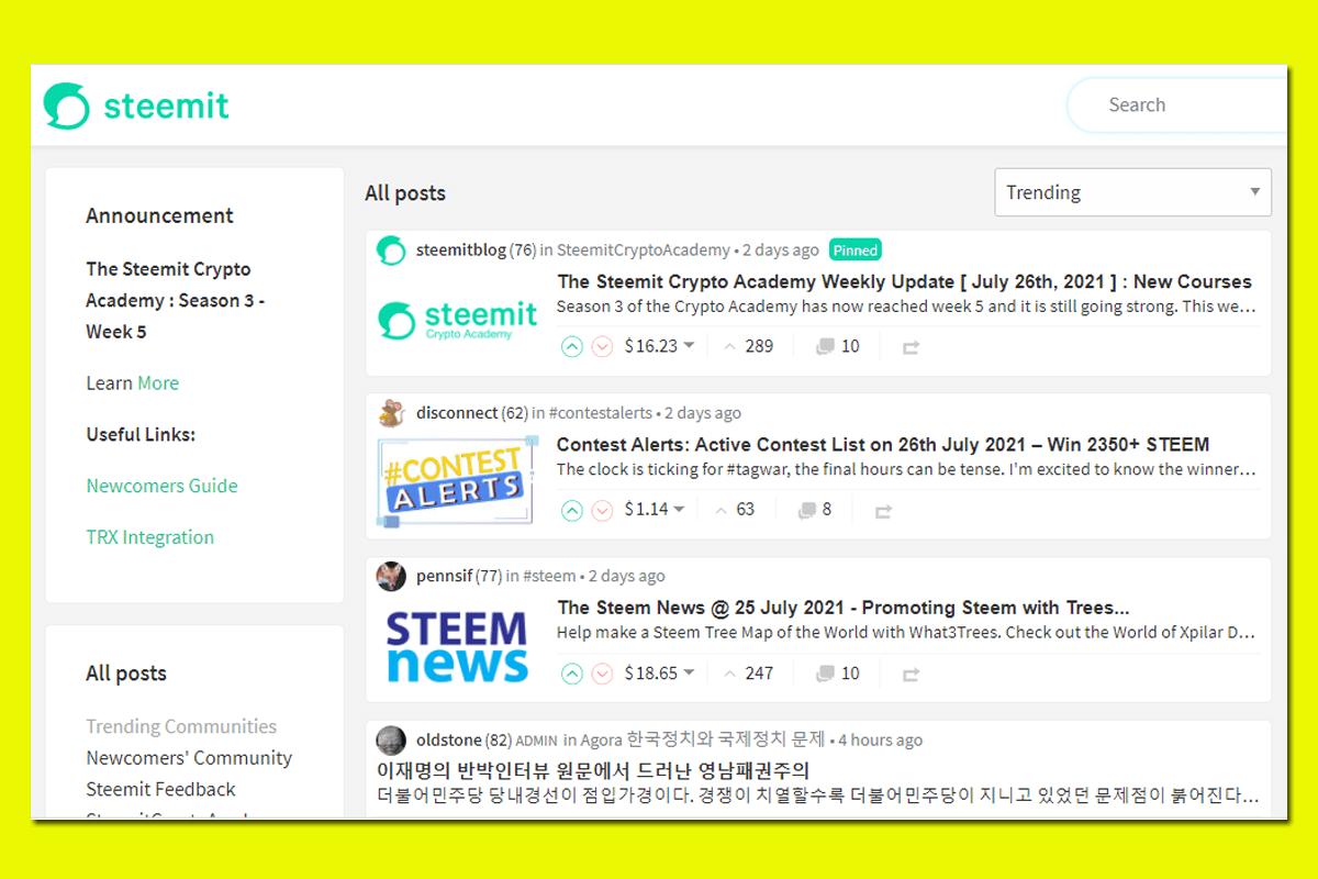 popular sites like Reddit