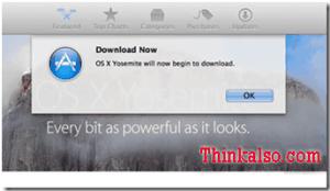 Download Yosemite on MacBook Pro laptop