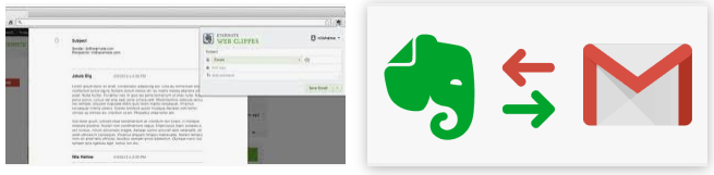 Gmail Clipper on Evernote