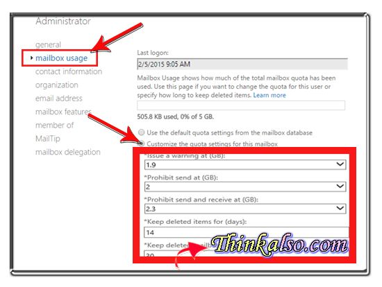 How to get Mailbox Size Exchange 2013 2016