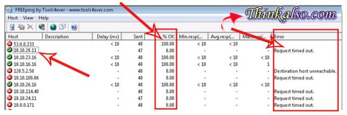 Multiple Ping Test IP Addresses in SameTime