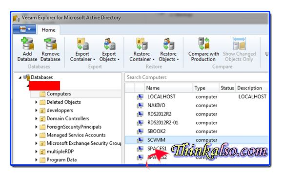 New itel level recovery on domain or veeam explorer for microsoft active directory