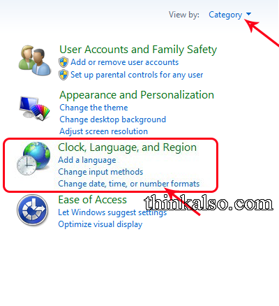 Open the format setting in Windows 10