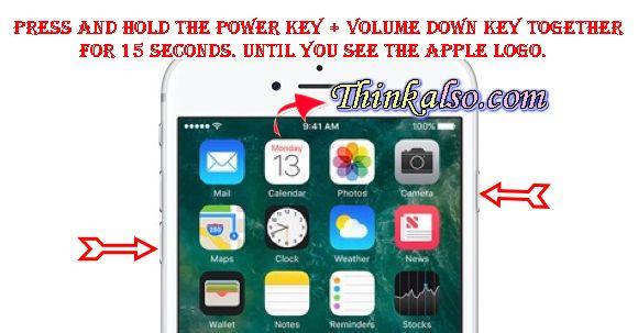 Soft Reset Method for iPhone 7 Plus 7