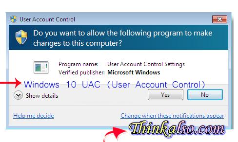 Windows 10 UAC User Account Control