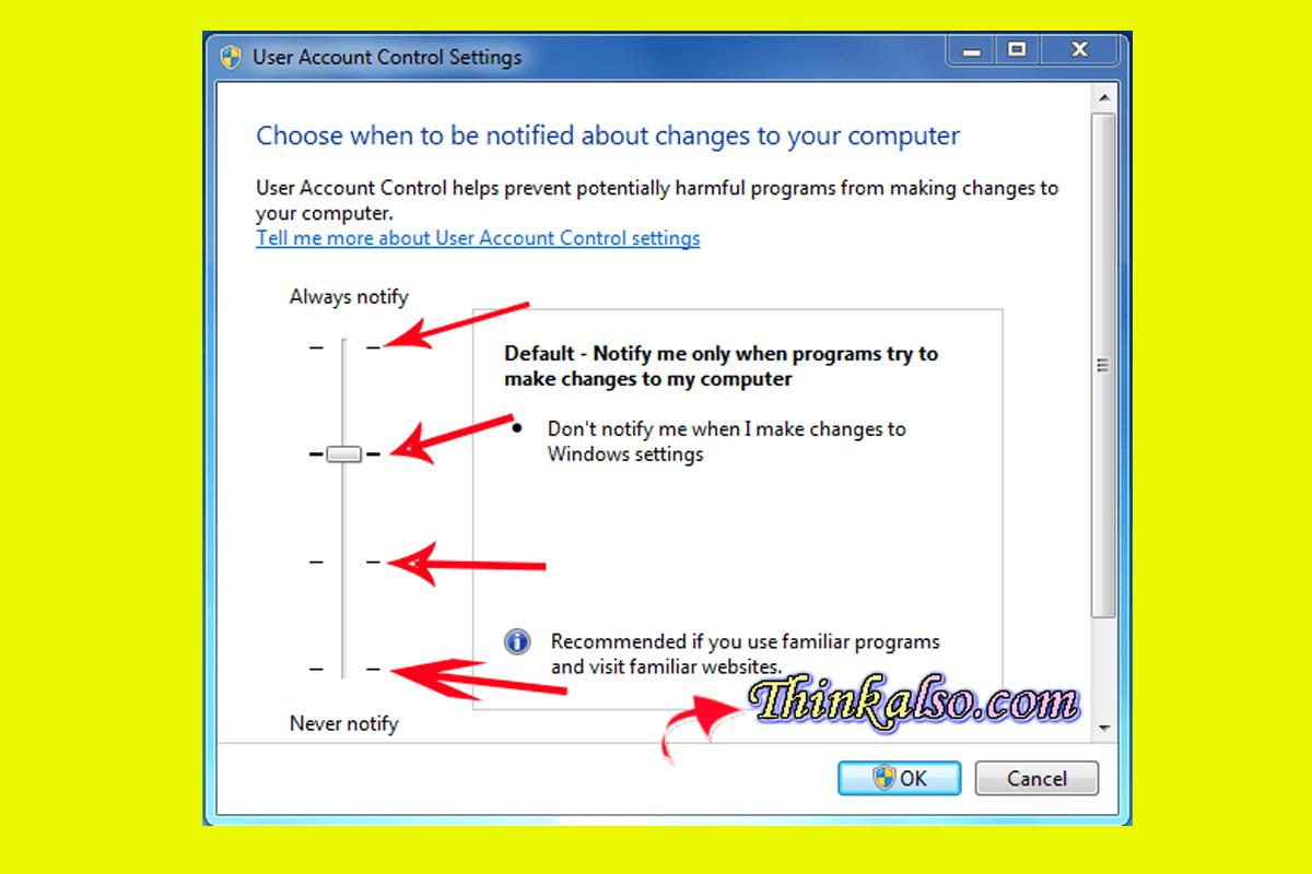 How to Disable Windows 10 UAC settings