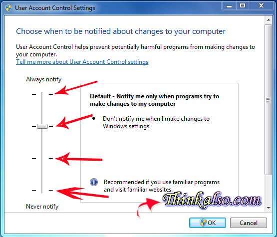 How to Disable Windows 10 UAC settings
