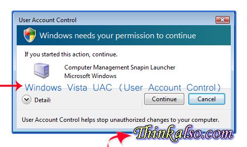 Windows Vista UAC User Account Control