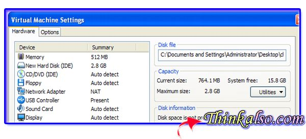 final settings for Google Chrome OS in VMware