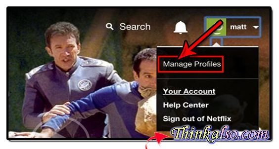 how to Manage profiles on netflix