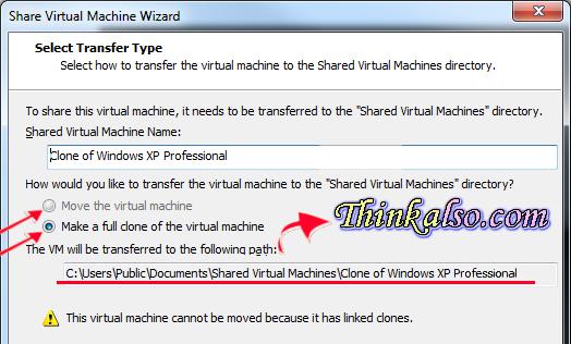 linked clone in virtual machine