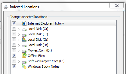 Disable Indexing in Windows 7
