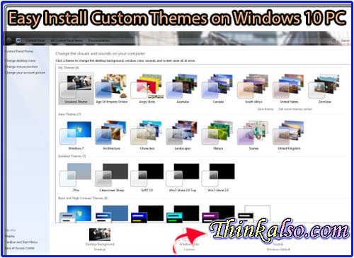 Easy Install Custom Themes on Windows 10 Desktop - Laptop