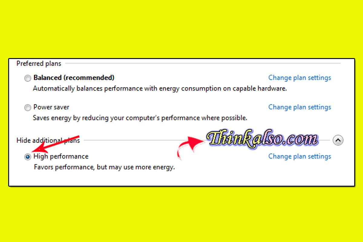 High Performance plan for Windows 10