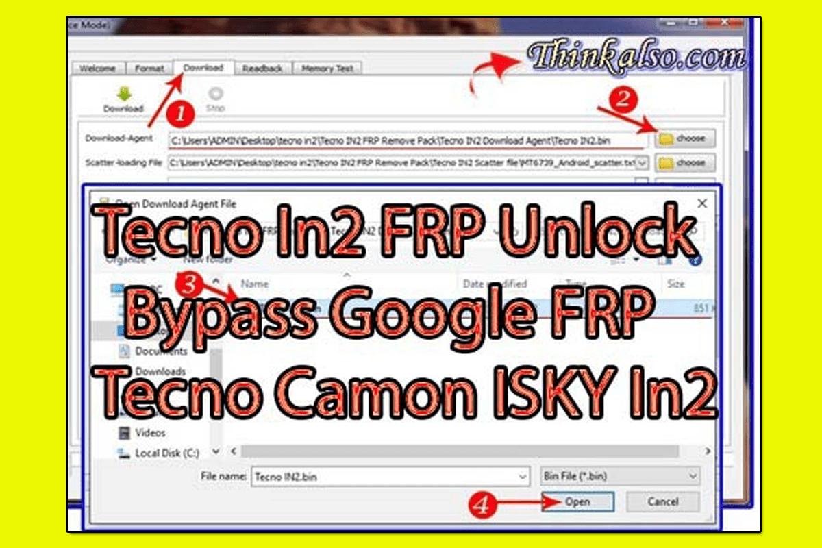 Tecno In2 FRP Unlock Bypass Google FRP Tecno Camon ISKY In2