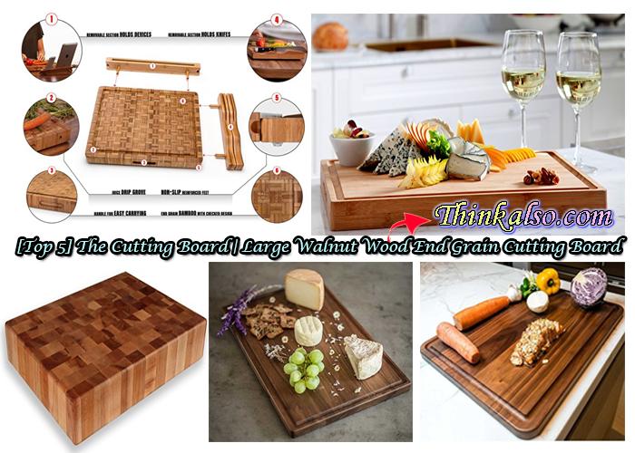 The Cutting Board Large Walnut Wood End Grain Cutting Board