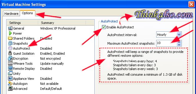 VMware Snapshots Auto Protect