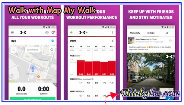 Walk with Map My Walk for Android Smartphones