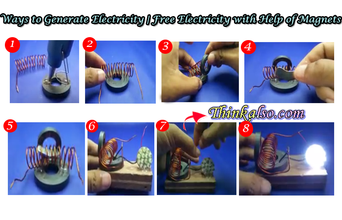 Ways to Generate Electricity Easy way to make Free Electricity with Help of Magnets
