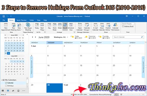 3 Steps to Remove Holidays From Outlook 365