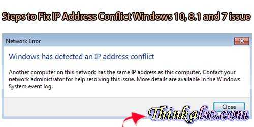 How to Fix IP Address Conflict Windows 10 8 and 7 issue