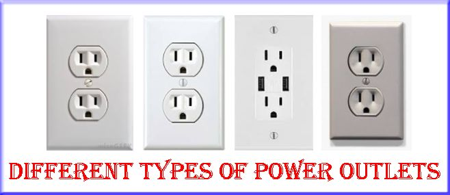Different types of power outlets