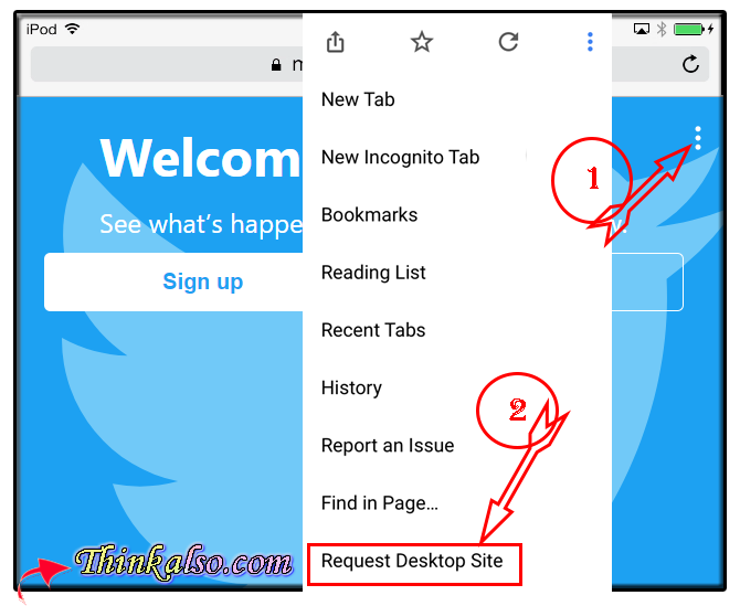 Easy Access Twitter Desktop Site on Smartphone and Tablet