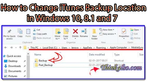 How to Change iTunes Backup Location in Windows 10, 8.1