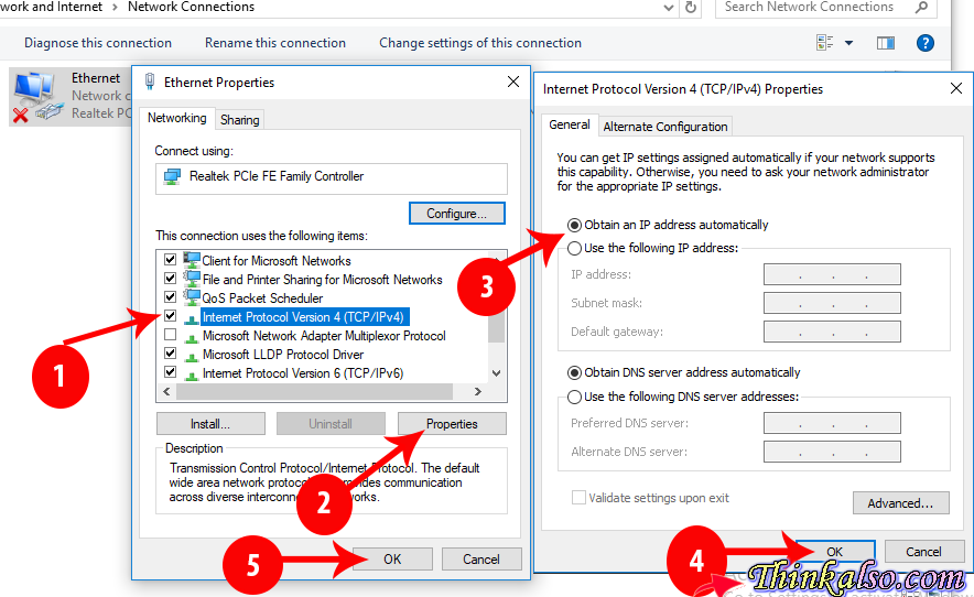 How to Fix conflict error in the Static IP