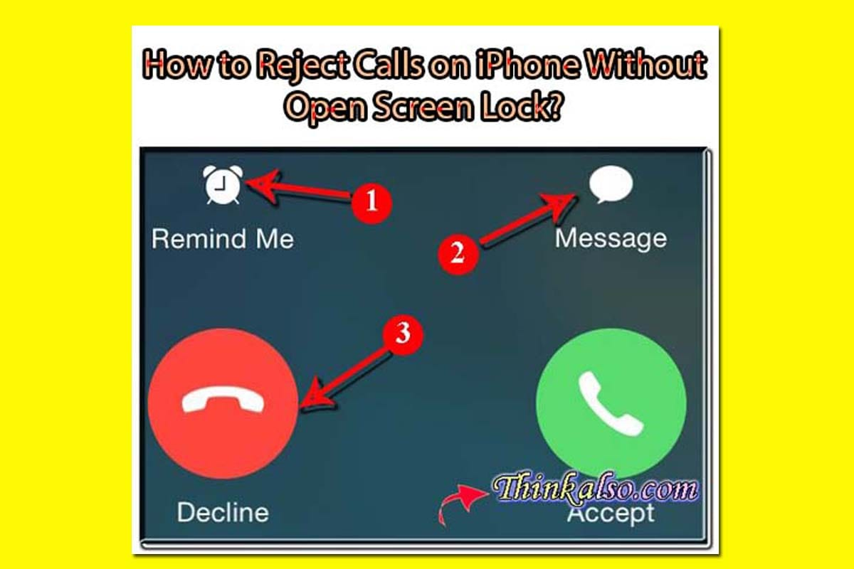 How to Reject Calls on iPhone Without Open Screen Lock