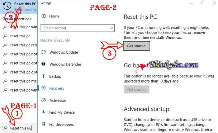 How to Reset Windows 10 Computer