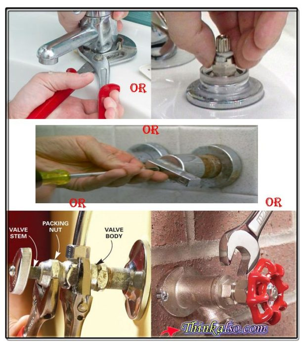 How to loose the screw of faucet easily