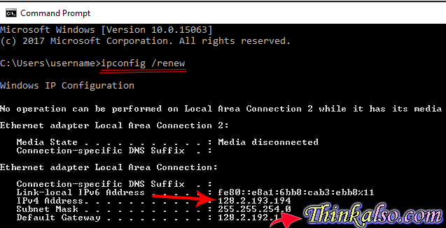 Where to find ipconfig?