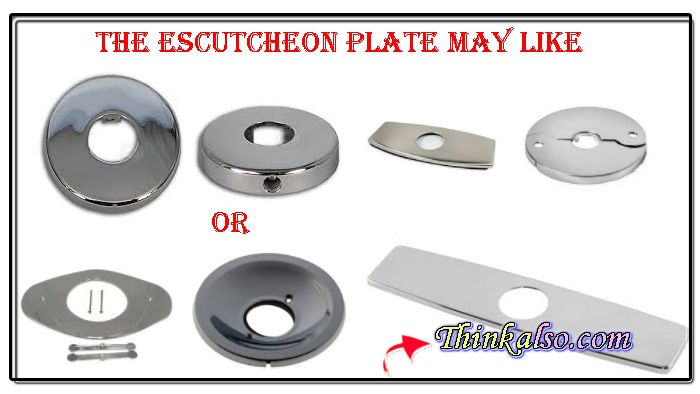 How to remove escutcheon plate around the faucet