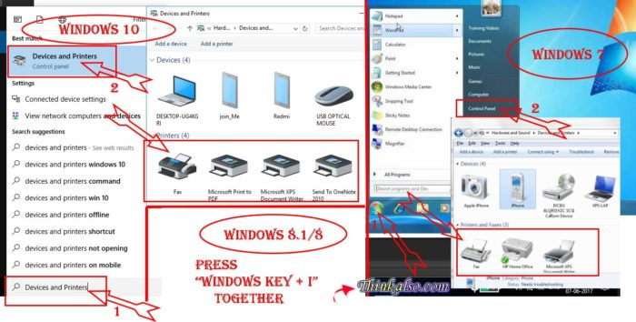 Printer Offline on Windows 10 or Windows 8