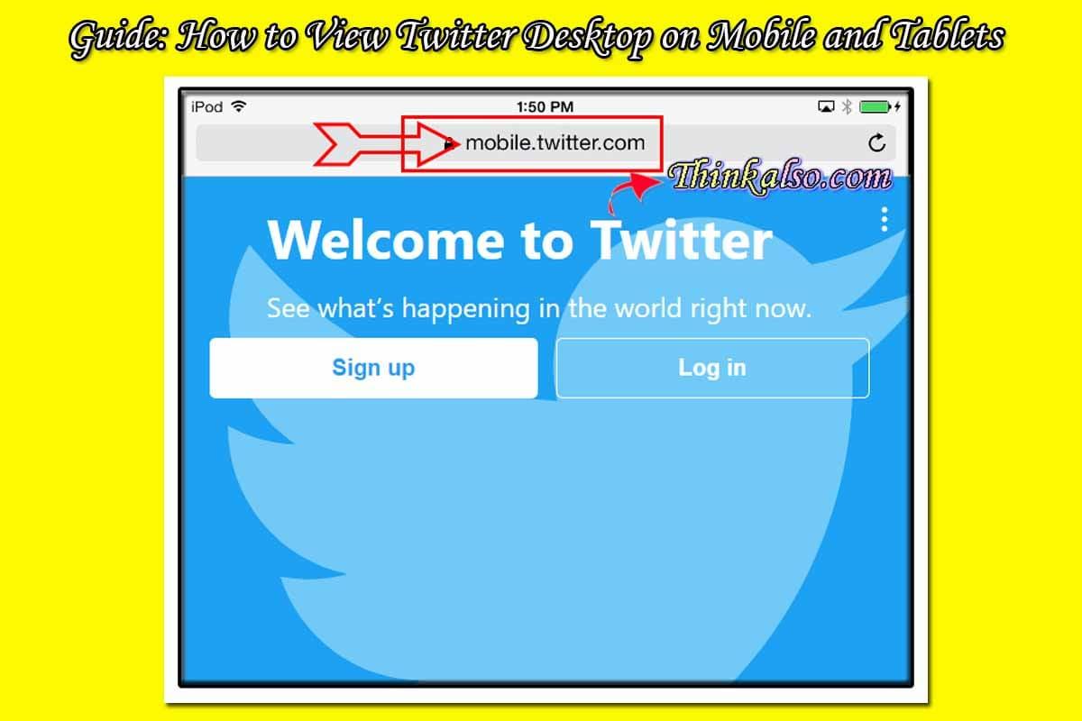 Twitter Desktop on Mobile