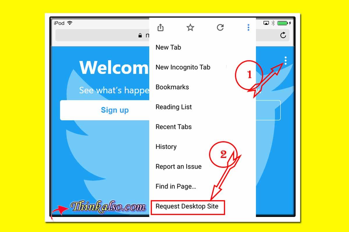 Twitter Desktop on Phone