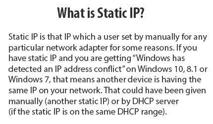 What is Static IP