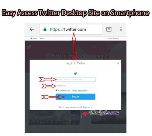 asy Access Twitter Desktop Site on Smartphone