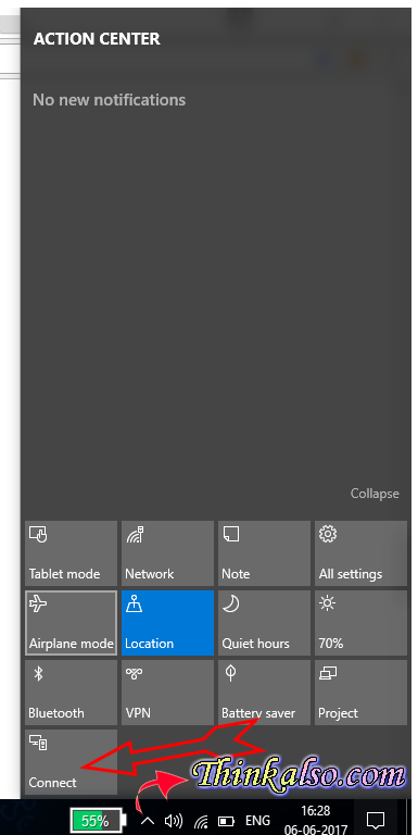 shortcut to Connect Wireless Headphones to Laptop on Windows 10