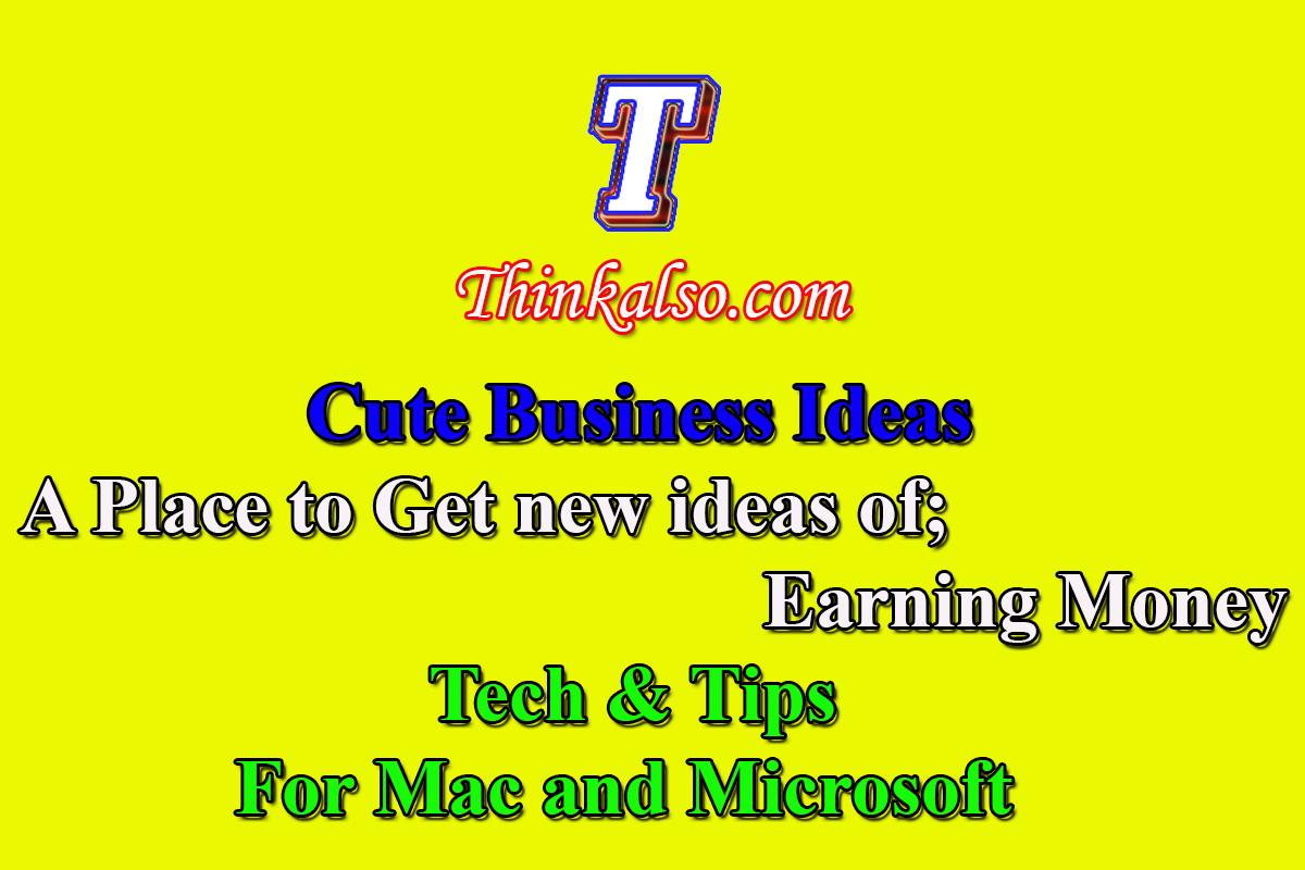 Thinkalso - Cute Business ideas